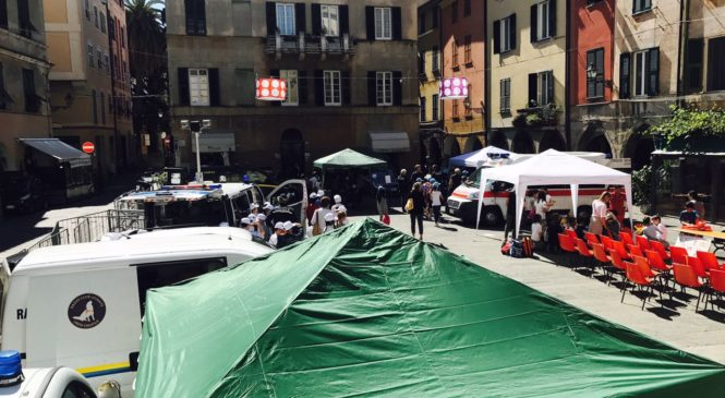 RADIO CLUB LEVANTE IN PIAZZA A CHIAVARI